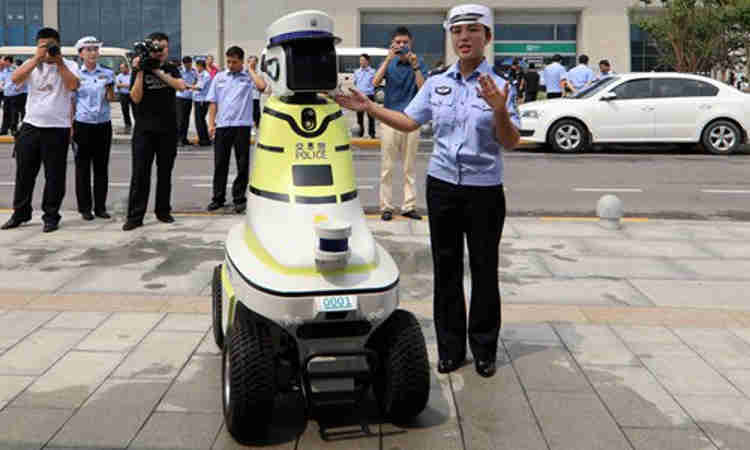 China Deploys Robots To Assist Traffic Cops